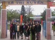 Giao lưu tại trường TH Lê Thị Xuyến