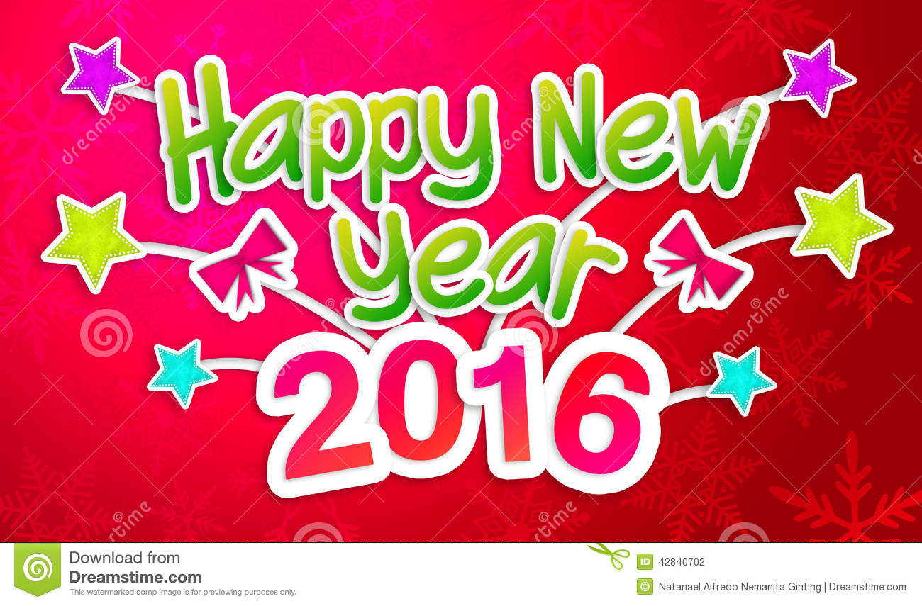 red-happy-new-year-greeting-art-paper-card-digital-42840702